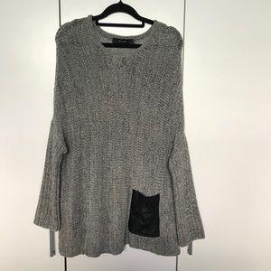 Decjuba Grey Knit Jumper Size 10 Pocket Detail